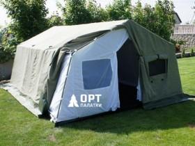 палатка 2 слойная из брезента