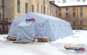 В Санкт-Петербурге установили палатки для бездомных
