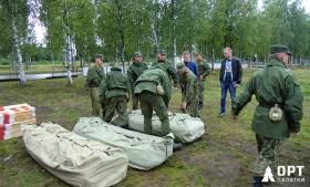 Армейские палатки М-10 и М-30 на строительстве железной дороги