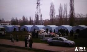Зимние палатки МЧС в Крыму