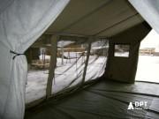 Штабная палатка внутри