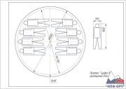 Схема размещения в палатке тундра-8